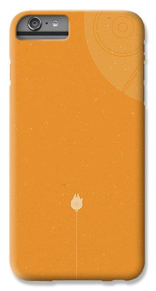 Millennium Falcon Meets Death Star IPhone 6s Plus Case by Samuel Whitton