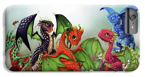 Blueberry iPhone 6s Plus Case - Mixed Berries Dragons by Stanley Morrison