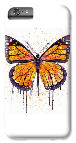 Monarch Butterfly Watercolor IPhone 6s Plus Case by Marian Voicu