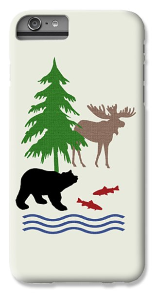 Moose And Bear Pattern Art IPhone 6s Plus Case by Christina Rollo