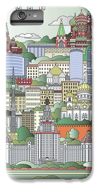 Moscow City Poster IPhone 6s Plus Case by Pablo Romero