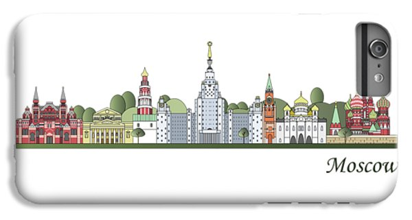 Moscow Skyline Colored IPhone 6s Plus Case by Pablo Romero