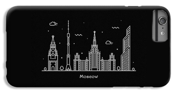 Moscow Skyline iPhone 6s Plus Case - Moscow Skyline Travel Poster by Inspirowl Design