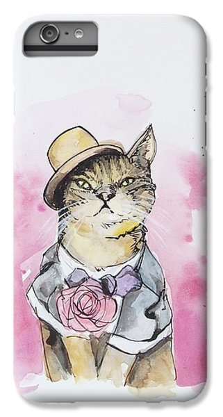 Cat iPhone 6s Plus Case - Mr Cat In Costume by Venie Tee