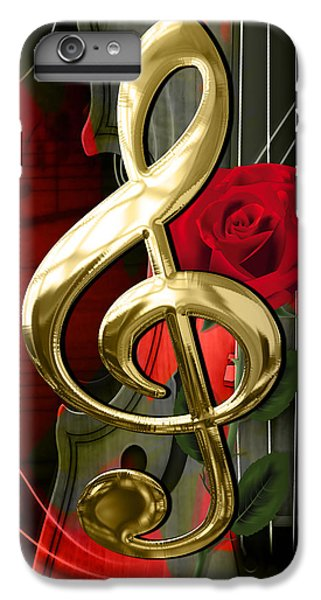 Musical Clef And Violin Art IPhone 6s Plus Case