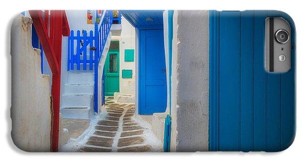 Greece iPhone 6s Plus Case - Mykonos Alley by Inge Johnsson