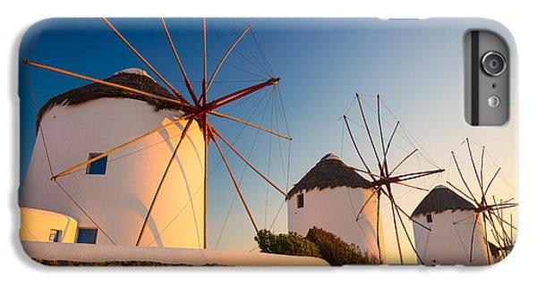 Greece iPhone 6s Plus Case - Mykonos Windmills by Inge Johnsson