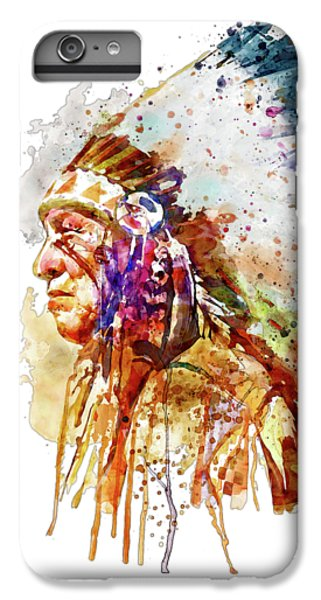 Native American Chief Side Face IPhone 6s Plus Case