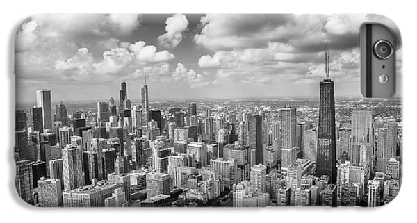 Hancock Building iPhone 6s Plus Case - Near North Side And Gold Coast Black And White by Adam Romanowicz