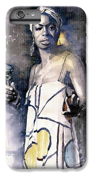 Jazz iPhone 6s Plus Case - Nina Simone by Yuriy Shevchuk