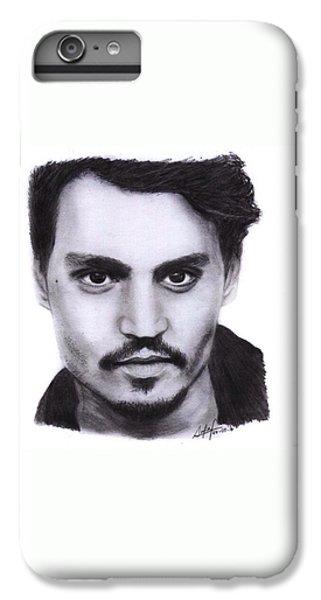 iPhone 6s Plus Case - Johnny Depp Drawing By Sofia Furniel by Jul V