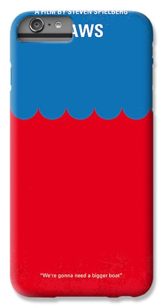 Sharks iPhone 6s Plus Case - No046 My Jaws Minimal Movie Poster by Chungkong Art