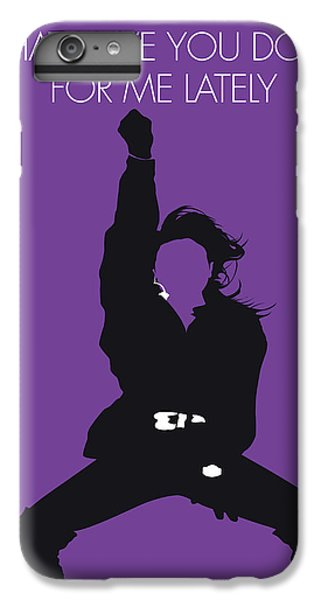 Rhythm And Blues iPhone 6s Plus Case - No091 My Janet Jackson Minimal Music Poster by Chungkong Art