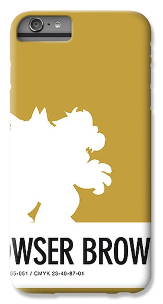 Floral iPhone 6s Plus Case - No38 My Minimal Color Code Poster Bowser by Chungkong Art