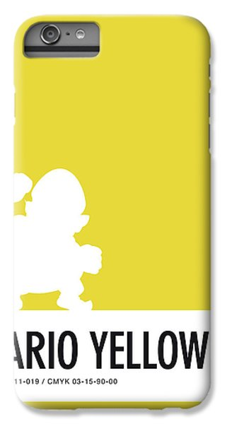 Floral iPhone 6s Plus Case - No43 My Minimal Color Code Poster Wario by Chungkong Art