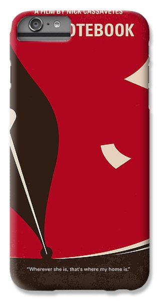 No440 My The Notebook Minimal Movie Poster IPhone 6s Plus Case by Chungkong Art