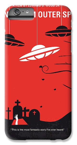 Space iPhone 6s Plus Case - No518 My Plan 9 From Outer Space Minimal Movie Poster by Chungkong Art