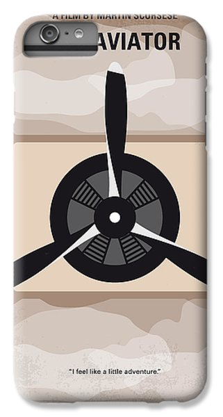 Airplane iPhone 6s Plus Case - No618 My The Aviator Minimal Movie Poster by Chungkong Art