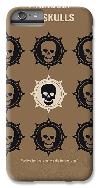 Harvard iPhone 6s Plus Case - No662 My The Skulls Minimal Movie Poster by Chungkong Art