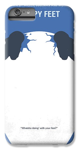 Penguin iPhone 6s Plus Case - No744 My Happy Feet Minimal Movie Poster by Chungkong Art