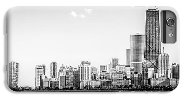Hancock Building iPhone 6s Plus Case - North Chicago Skyline Panorama In Black And White by Paul Velgos