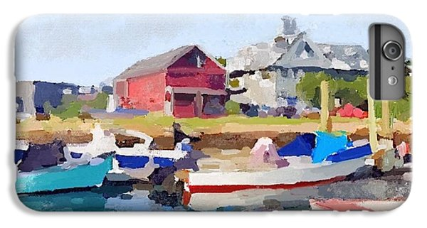 North Shore Art Association At Pirates Lane On Reed's Wharf From Beacon Marine Basin IPhone 6s Plus Case by Melissa Abbott