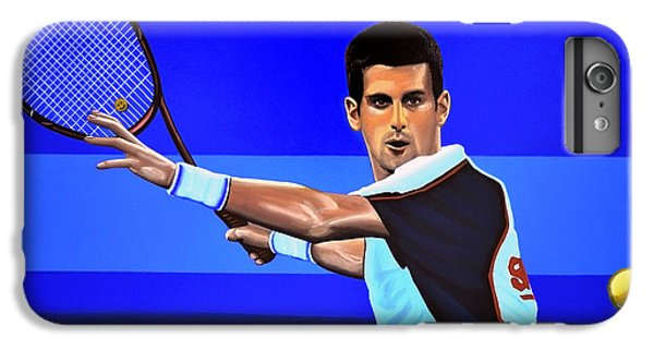 Novak Djokovic IPhone 6s Plus Case by Paul Meijering