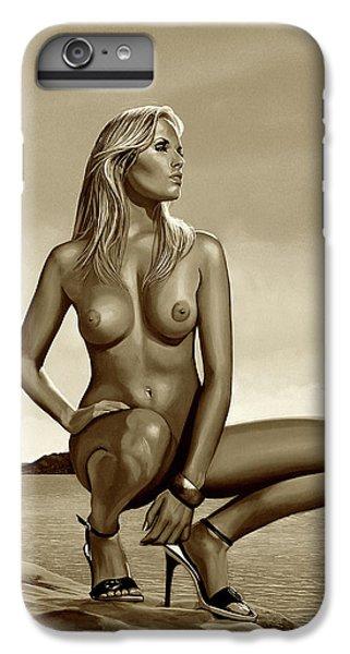 Nudes iPhone 6s Plus Case - Nude Blond Beauty Sepia by Paul Meijering