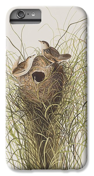 Wren iPhone 6s Plus Case - Nuttall's Lesser-marsh Wren  by John James Audubon