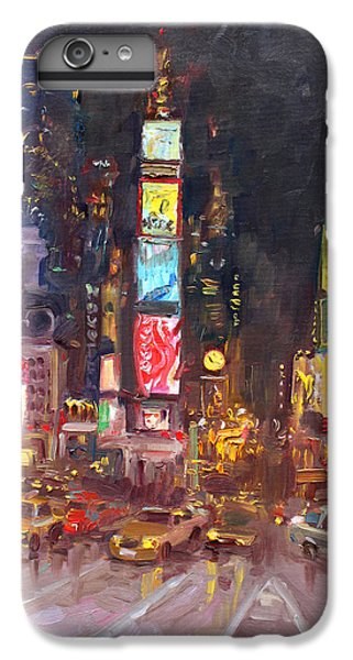 Times Square iPhone 6s Plus Case - Nyc Times Square by Ylli Haruni