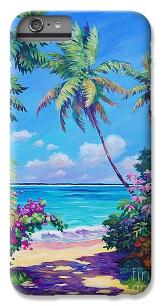 Ocean View With Breadfruit Tree IPhone 6s Plus Case by John Clark