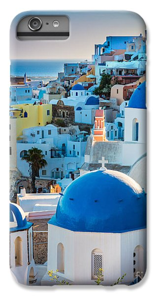 Greece iPhone 6s Plus Case - Oia Town by Inge Johnsson