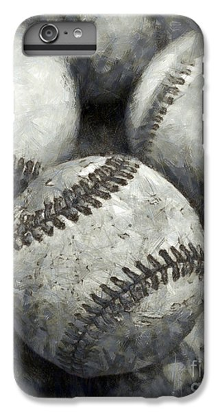 Old Baseballs Pencil IPhone 6s Plus Case by Edward Fielding