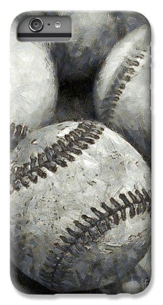Old Baseballs Pencil IPhone 6s Plus Case by Edward Fielding