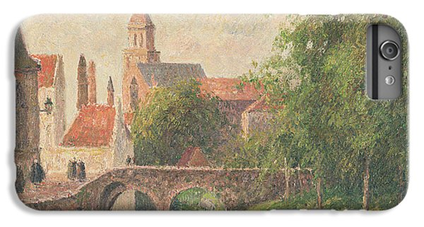 Town iPhone 6s Plus Case - Old Bridge In Bruges  by Camille Pissarro
