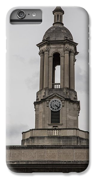 Old Main From Front Clock IPhone 6s Plus Case by John McGraw