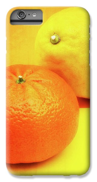 Grapefruit iPhone 6s Plus Case - Orange And Lemon by Wim Lanclus