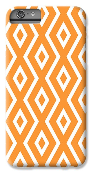 Orange Pattern IPhone 6s Plus Case by Christina Rollo