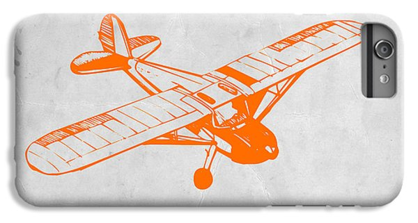 Airplane iPhone 6s Plus Case - Orange Plane 2 by Naxart Studio
