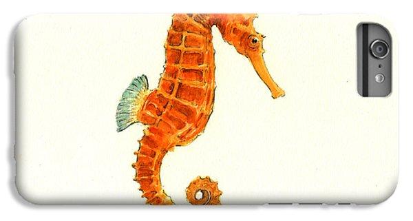 Orange Seahorse IPhone 6s Plus Case