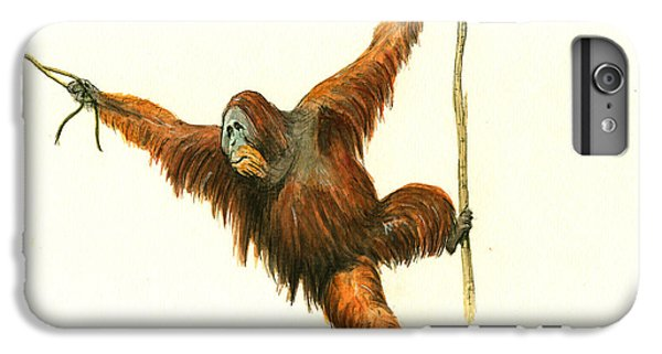 Orangutan IPhone 6s Plus Case by Juan Bosco