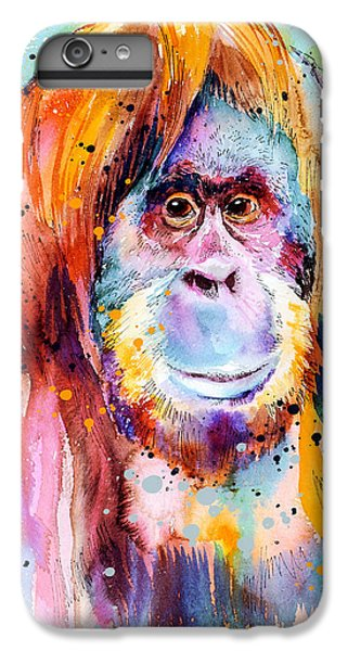 Orangutan  IPhone 6s Plus Case by Slavi Aladjova
