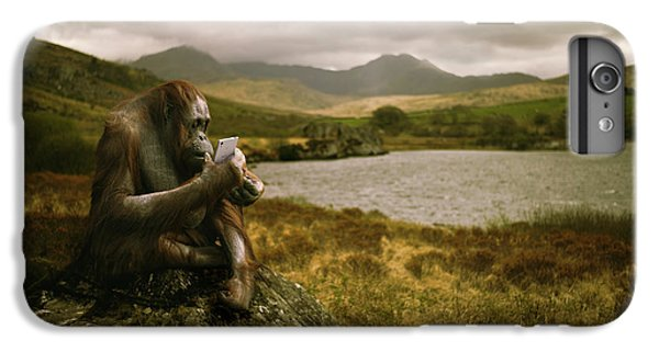 Orangutan With Smart Phone IPhone 6s Plus Case by Amanda Elwell
