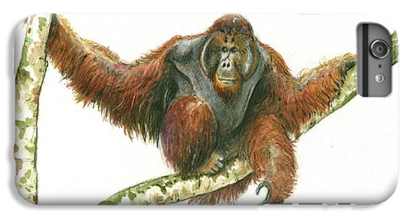 Orangutang IPhone 6s Plus Case by Juan Bosco