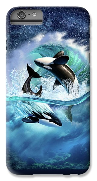 Dolphin iPhone 6s Plus Case - Orca Wave by Jerry LoFaro