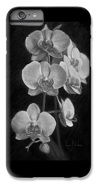 Orchid iPhone 6s Plus Case - Orchids - Black And White by Lucie Bilodeau