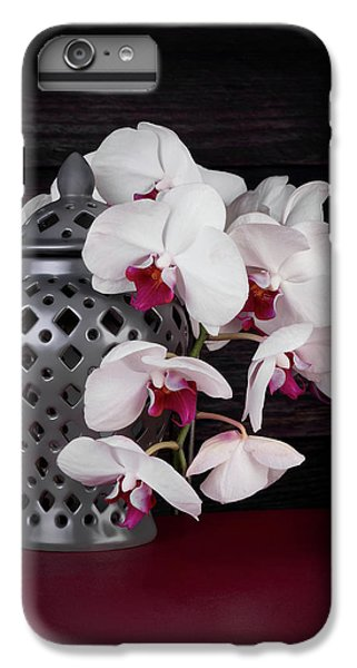 Orchid iPhone 6s Plus Case - Orchids With Gray Ginger Jar by Tom Mc Nemar