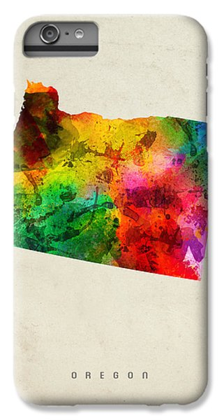 Oregon State Map 01 IPhone 6s Plus Case by Aged Pixel