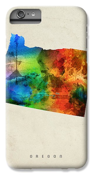 Oregon State Map 03 IPhone 6s Plus Case by Aged Pixel
