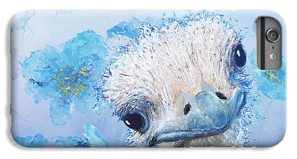Ostrich In A Field Of Poppies IPhone 6s Plus Case by Jan Matson